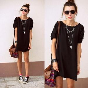 темное платье фото