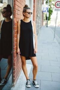 с чем носить черное платье фото