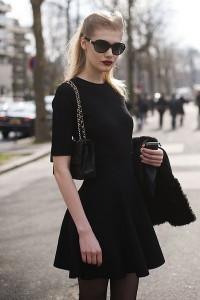 с чем носить платье черного цвета фото