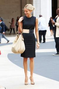с чем носить черное платье