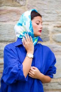 платок носить на голове фото
