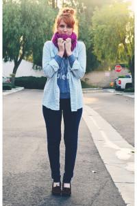 с чем носить мокасины фото