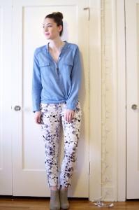 брюки в цветочек фото