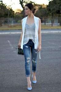 с чем носить джинсы с подворотом фото