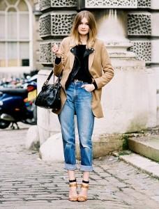с чем носить джинсы с подворотом