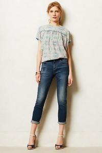джинсы с подворотом фото