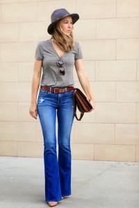 джинсы клеш фото