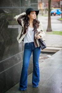кому идут джинсы клеш фото