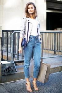 джинсы-mom