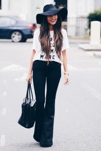 расклешенные джинсы фото