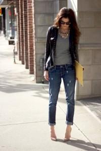 С чем носить подвернутые джинсы фото