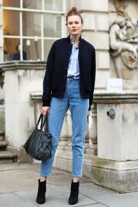 джинсы мом с чем носить фото