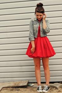 как носить платье с converse фото