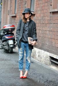джинсы с дырками
