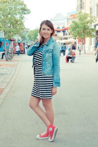 платье с кедами фото