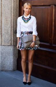 юбка в цветочек фото