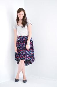 юбка в цветочек