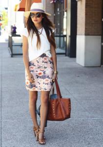 юбка с цветочным принтом фото