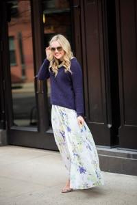 С чем носить юбку с цветочным принтом фото