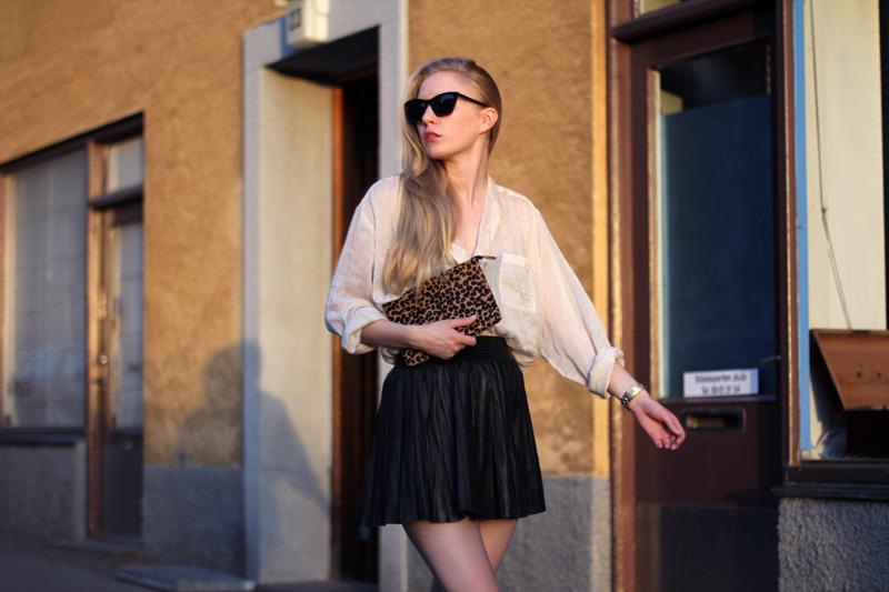 юбка-солнце из кожи фото