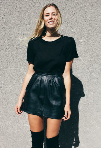 юбка-солнце из кожи