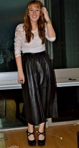 кожаная юбка-солнце фото