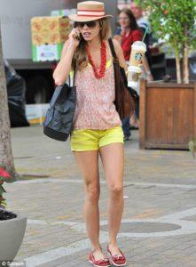 шорты желтого цвета