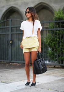желтые шорты фото