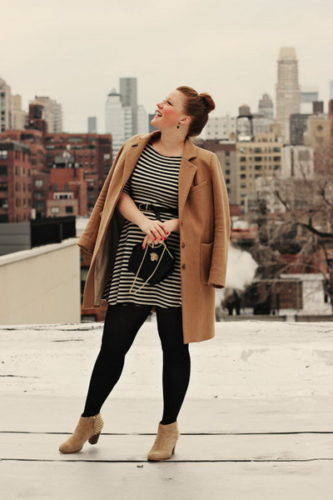 nyc-camel-coat-striped-dress-outfit