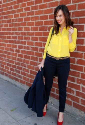 желтая блузка фото
