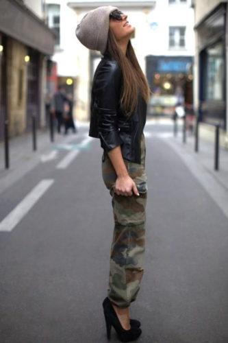 С чем носить камуфляжные штаны фото