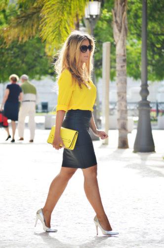 желтую блузку фото
