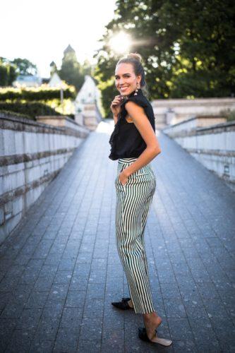 полосатые брюки